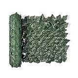 Elie&Eason Artificia Sichtschutzzaun, Wand, Sichtschutz, Hecke, UV-Schutz, Schutz vor Verblassen, für die Wand, Landschaftsbau, Gartenzaun, Sichtschutz 0.5 x 3 m (0.5 x 3 m, dunkelgrünes Apfelblatt)