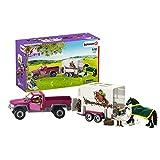 Schleich 42346 Horse Club Spielset - Pick-up mit Pferdeanhänger, Spielzeug ab 5 Jahren