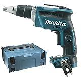 Makita DFS452ZJ Akku-Schnellbauschrauber Brushless 18V + Koffer makpac, 18 V, blau, silber