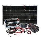 Insel Solaranlage komplett - PV-Anlage 500W AC / 100WP Panel, SolarBatterie, MPPT Laderegler, Wechselrichter
