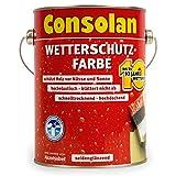 Consolan Wetterschutzfarbe, 2,5 Liter, schwedenrot