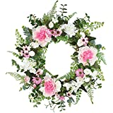 Künstlicher Kranzrahmen, Simulation Grün Frühling Sommer Grün Blumengirlande, Halloween Thanksgiving Bauernhaus Dekoration Kranz