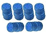 HMH-Shop WC Frisch Duft Tabs für den Spülkasten Ø 4,50cm 50 Gramm je Tab Wasserkasten Reiniger Urinsteinentferner Chemie Würfel Reinigungstabs für die Toilette Faulanlagen (24)