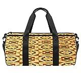 TIZORAX Vintage Bodenfliesen-Muster Gym Duffle Bag Drum Tote Fitness Reisetasche Dachgepäckträger Tasche