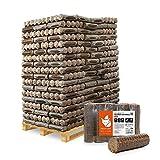 HEIZFUXX Holzbriketts Hartholz Nestro S Kamin Ofen Brenn Holz Heiz Brikett 6kg x 162 Gebinde 972kg / 1 Palette Paligo