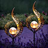 Gadgy Set von 2 Solarlampen für Außen Flamme   Wasserdichte Solar Lampe für die Garten dekoration   LED Gartenlampen