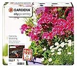 Gardena city gardening Balkon Bewässerung: Vollautomatisches Blumenkastenbewässerungs-Set, für bis zu 6 m Balkonkästen, 14 Programme (1407-20)