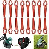 TAFAFTL 100 Stück Kunststoff Ersatzmesser, Rasentrimmer Messer Ersatzmesser Set lawn trimmer accessories für Gardena Rasentrimmer und Akkutrimmer