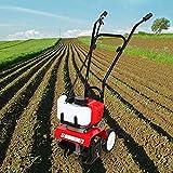 Elektro Bodenhacke, 52CC Benzin Rasenlüfter 1900W Mini Bodenfräse Motorhacke Gartenhacke Kultivator Gartenfräse für Umgraben und Lockern Vom Boden