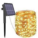 Solar Lichterkette Aussen, Kolpop 24M 240 LED Außen Wasserdicht Kupferdraht Lichterketten für Weihnachten Partys Garten Hochzeiten Dekoration (Warmweiß)