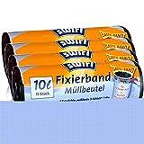 4x Swirl Fixierband Müllbeutel 10L (15 stk./Rolle)