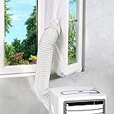 Fensterabdichtung für mobile Klimageräte Klimaanlagen Wäschetrockner und Ablufttrockner,AirLock zum Anbringen an Fenster, Dachfenster Flügelfenster keine Bohrlöcher erforderlich