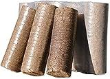 10kg - 120kg Holzbriketts Nestro Hartholz Briketts aus Buche & Eiche Kamin Ofen Heiz Brikett Brennholz Heizbrikett Nestro Brikett Rund (120)