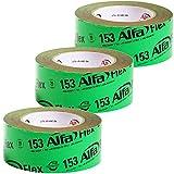 Flexibles Hochleistungsklebeband 3 Stück 50 mm x 25 m (75 Meter) für Dampfbremsen, Dampfsperren und Dachfolien, geschmeidiges Folienklebeband für das dauerhaft luftdichte Verkleben