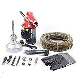 Profi Rohrreinigungsmaschine Ø 22.5mx16mm Spirale400 Watt Rohrreinigungsgerät & umfangreichem Zubehör beseitigen von Verstopfungen, für Waschbecken, Dusche etc.