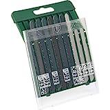 Bosch 2607019461 10-teilige Stichsägeblatt Set (für Holz/Metall/Kunststoff, T-Schaft, Zubehör für Stichsäge)