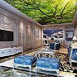 Bäume Decke Wandbilder 3D Wand Fototapeten Für Wohnzimmer Tapete 3D Wand Decken Wandbilder Hintergrund 400X280Cm