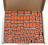 Wago 221 Klemmen SET 25x 221-412, 221-413, 221-415   Kabel Verbinder in einem wiederverschließbaren Karton - Original WAGO