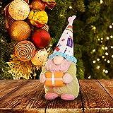 Glücksvogel Weihnachtsdeko Wichtel Handgemachte Puppe Zwerg Deko Plüsch Wichtel Schwedische Wichtel Dolls, Weihnachten Tischdekoration Basteln Wichtel Deko für Weihnachtlicher (Grün, One Size)