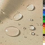 1buy3 'Monaco Wasserdichter Polyester Stoff   12.000 mm Wassersäule   Farbe 03   Beige   Polyester Stoff 160cm breit Meterware wasserdicht Outdoor extrem reissfest