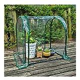 WXJ Mini-Garten-Gewächshaus 70x50x70cm Tunnel Tragbarer Kleiner PVC-Pflanzenständer Grow-Zelt für Indoor-Outdoor-Gartenterrasse, Regenfest und Frostsicher