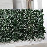 maxVitalis Balkon Sichtschutz Blätteroptik, inkl. 20 Kabelbindern, UV- und Wetterbeständig, 300 x 100 cm
