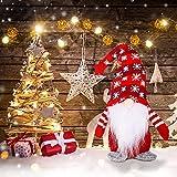Glücksvogel Wichtel Figuren Weihnachten Deko Weihnachtszwerg Handgefertigt Plüsch Weihnachts Zwerg Tischdeko Weihnachten Skandinavische Puppe Dekofigur für Kamin,Weihnachts, Kinder (A, One Size)