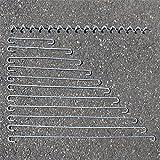 Distanzhalter Distanz-Haken Spirale Spiralen Metall 4mm für Gabione/Gabionen, Zubehör für Gabionen, Ersatzteile Gabionen (10x Distanzhalter - 30cm)