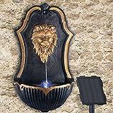 Gartenbrunnen Solarbrunnen Brunnen Vogelbad Wasserfall, Gartendeko mit Pumpe, Wasserspiel für Garten Terrasse, Balkon, Sehr Dekorativ, Led-Licht-Gartenleuchte (Veneziano)