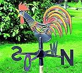 Novaliv 1x Wetterhahn | Wetterhahn für Garten | Wetterfahne für Gartenhaus | Wetterfahne | Wetterhahn für das Dach | Windfahne | Windmesser Windspiel