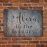 43LenaJon Metallschild mit Aufschrift 'Alexa Do The Laune', Vintage-Zitat im Retro-Stil, rustikales Zitat für Männer und Höhle, Garten, Wandkunst, Bauernhaus-Aluminiumschild