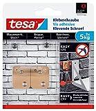 tesa Klebeschraube für Mauerwerk und Stein, Halteleistung 5 kg, viereckig, 2 Stück