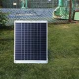 NUB Solarpanel 26W 18V Solarmodul Solarzelle Photovoltaik Solarladegerät Solaranlage Flexibel Ladekabel für Outdoor Wohnmobil, Auto, Boot 12V Batterien