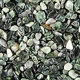 Terralith Steinteppich Marmor Komplett-Set für 1qm - Körnung: fein - 2-4mm mit Epoxidharz Bindemittel - für Innen in grün (jade )