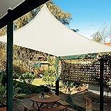 HAIKUS Sonnensegel 3x4 Meter Rechteckig Wasserdicht, 3x4m 95% UV Schutz Polyester Wasserabweisend Sonnenschutz für Garten Balkon und Terrasse, Creme4x3m(4x3)