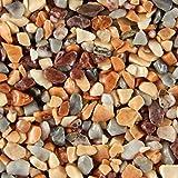Terralith Steinteppich Marmor Komplett-Set für 1qm - Körnung: fein - 2-4mm mit Epoxidharz Bindemittel - für Innen in rot-gelb (colorato tre)