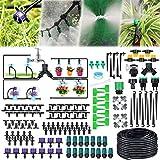 40M Bewässerungssystem Garten,163Pcs Mikro Drip Bewässerungssets, Automatik Tröpfchenbewässerung Gartenbewässerung Misting Kühlsystem für Garten Zimmerpflanzen Gewächshäuser Blumenbeete