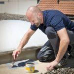 Streichbare Dichtmasse für Dachreparatur