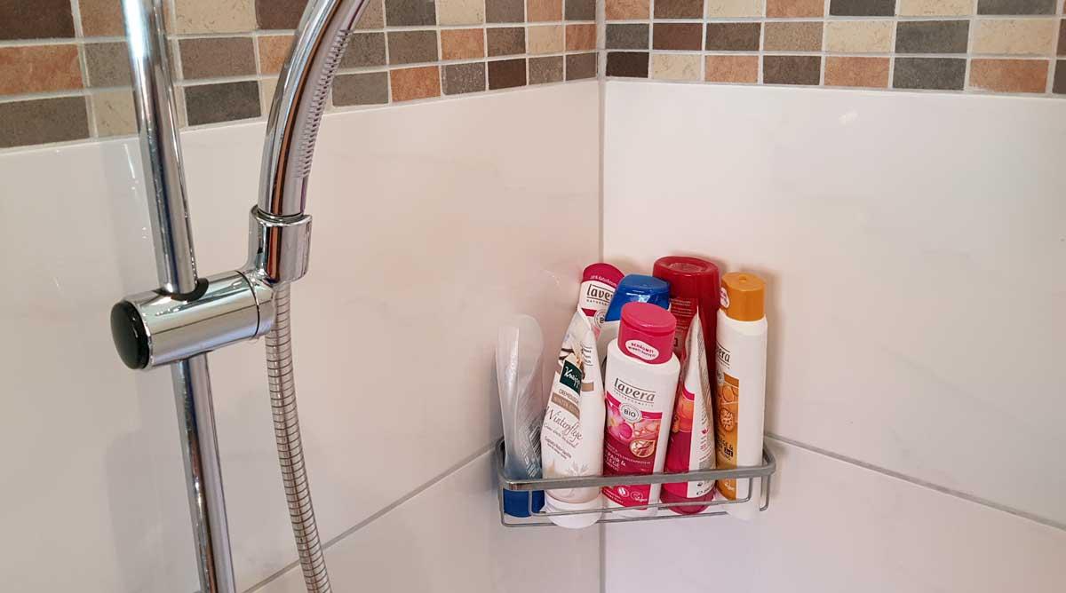 Duschablage ohne bohren - kleben oder zum hängen
