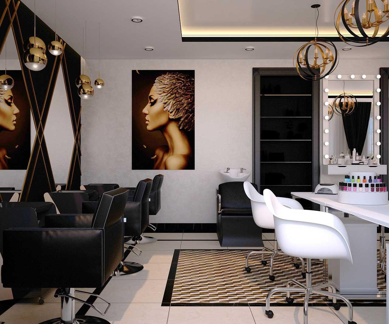 Optimale Beleuchtung für Friseursalon durch LED Panel