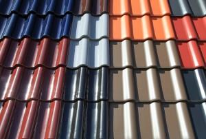Verschiedene Dachziegel