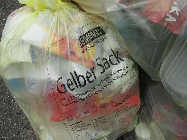 Was darf in den Gelben Sack - Die Beschriftung gibt bereits wichtige Tipps