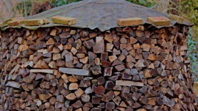 Abdeckplane für Brennholz