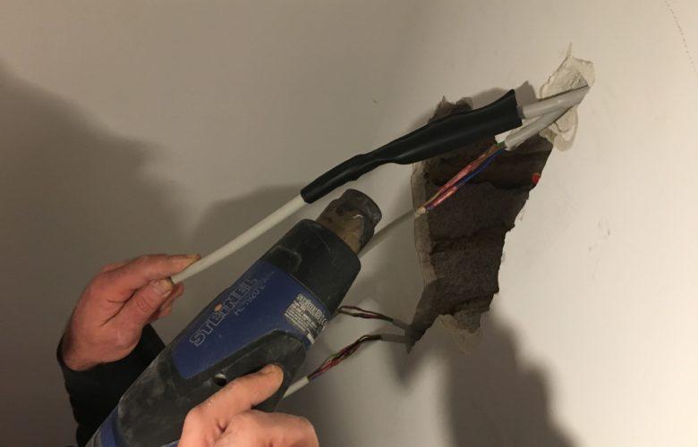 durchtrenntes Stromkabel reparieren