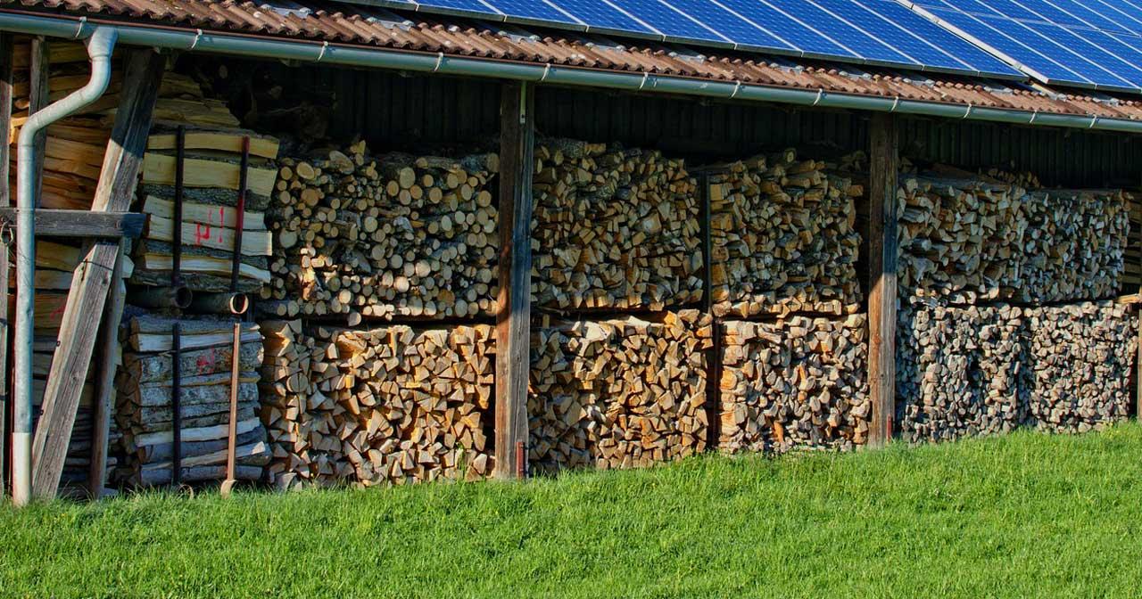 holzunterstand selber bauen - trockenlagerung für den winter