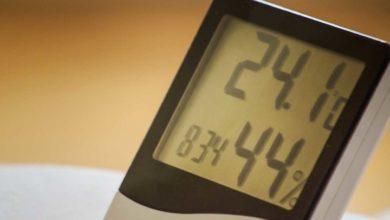 Ein Luftfeuchtigkeitsmesser schützt Sie vor Schimmel.