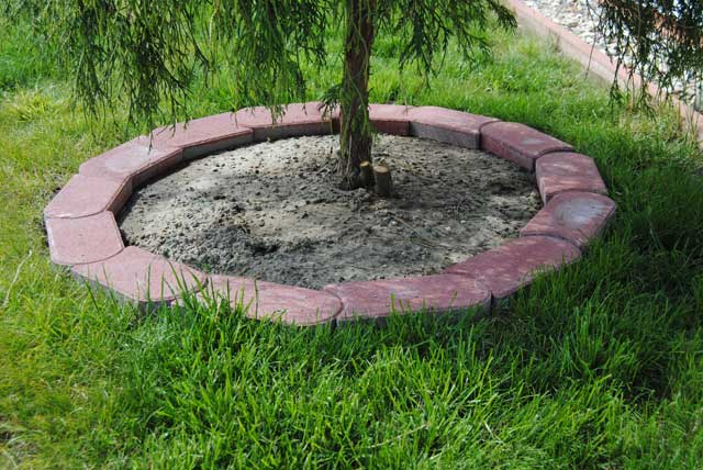 Wie Rasenkantensteine verlegen auf Sand oder Kies?