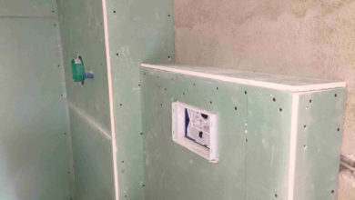Rigips Feuchtraumplatten sind immer grün