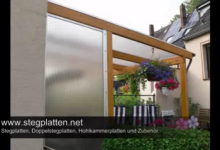 Bild von Stegplatten – Lichtplatten & Doppelstegplatten als Vordach