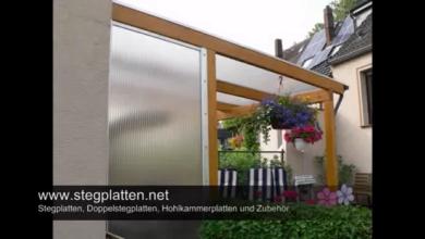 Photo of Stegplatten – Lichtplatten & Doppelstegplatten als Vordach